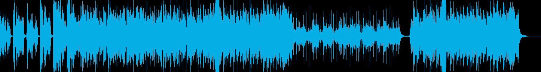 ほのぼのした弦楽器メロディーの音楽の再生済みの波形