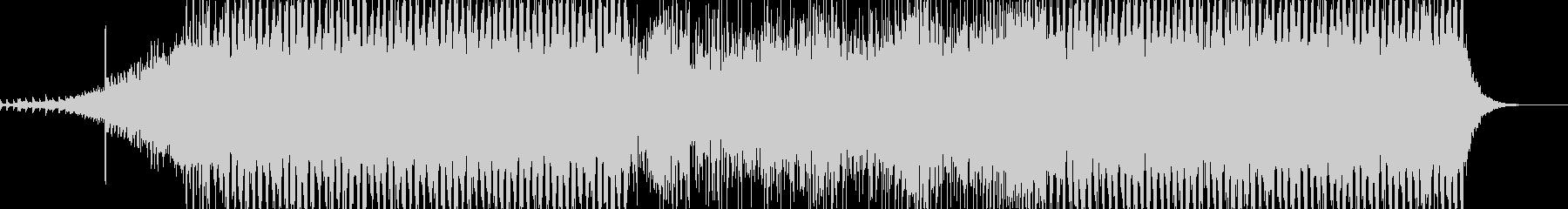 ミディアムで明るいEDM風ポップス曲の未再生の波形