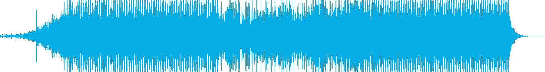 ミディアムで明るいEDM風ポップス曲の再生済みの波形