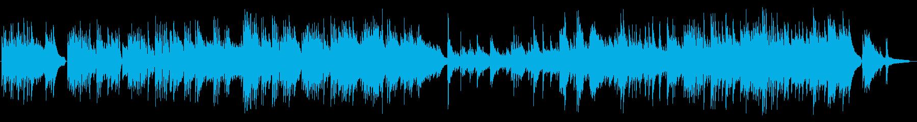 幸せ感の溢れるピアノBGMの再生済みの波形