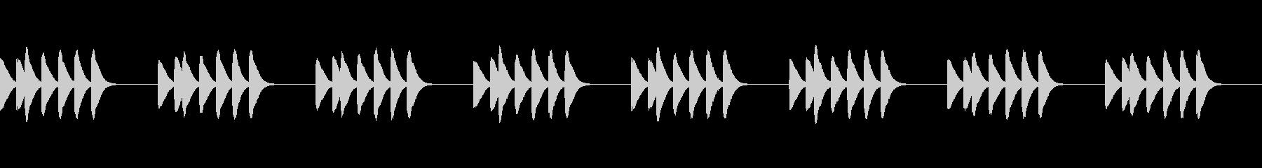 マリンバの着信音です。の未再生の波形