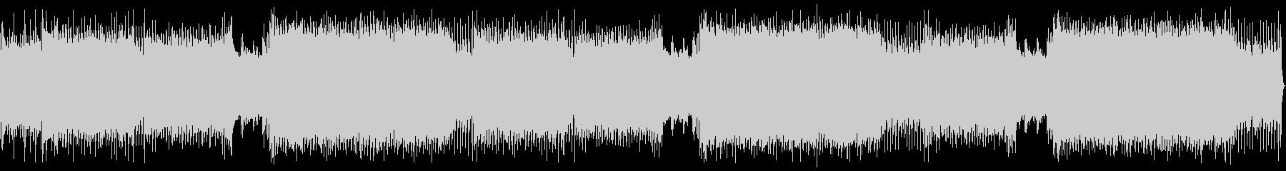 重いギターリフのカッコイイ系の四つ打ちの未再生の波形