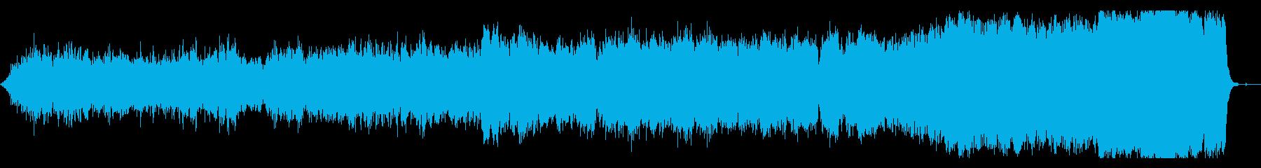 哀愁のあるメロディのオーケストラ曲の再生済みの波形