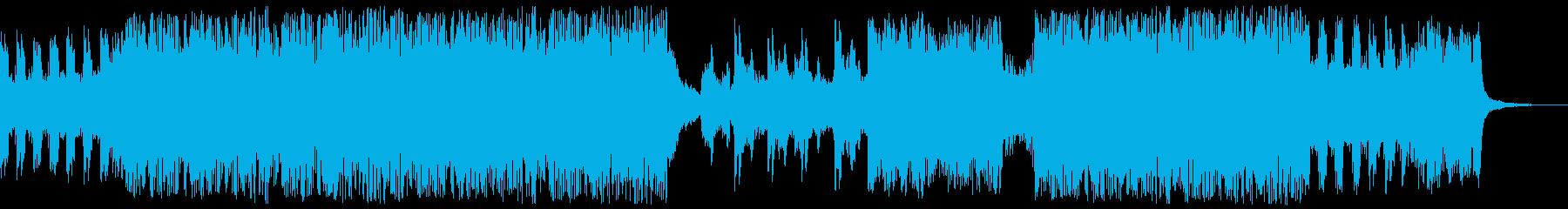 熱いイメージのトランス曲の再生済みの波形