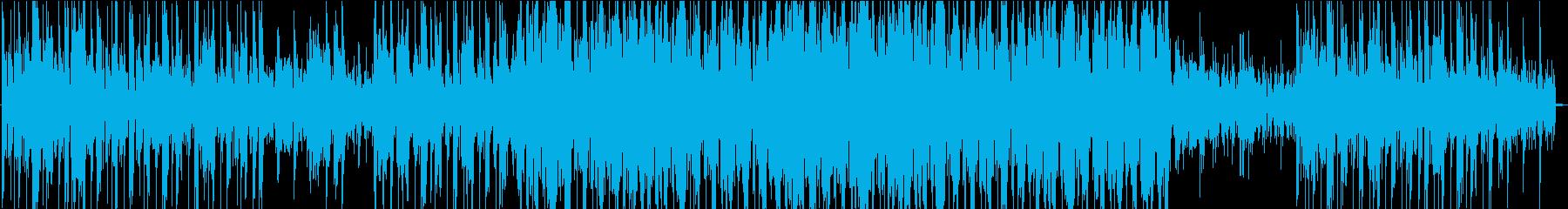 ハードでエッジの効いたエレクトロニックの再生済みの波形