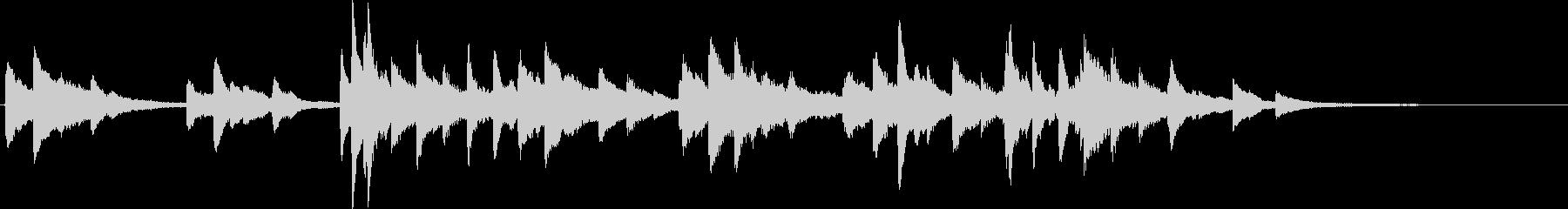 黄昏の色をピアノの音色で表現したジングルの未再生の波形