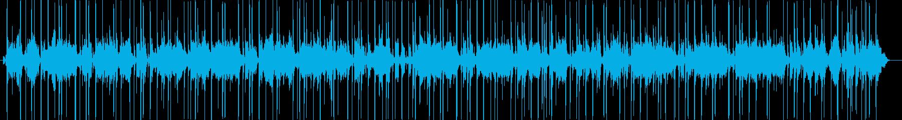 ファンキーなワウのスラップベースの再生済みの波形