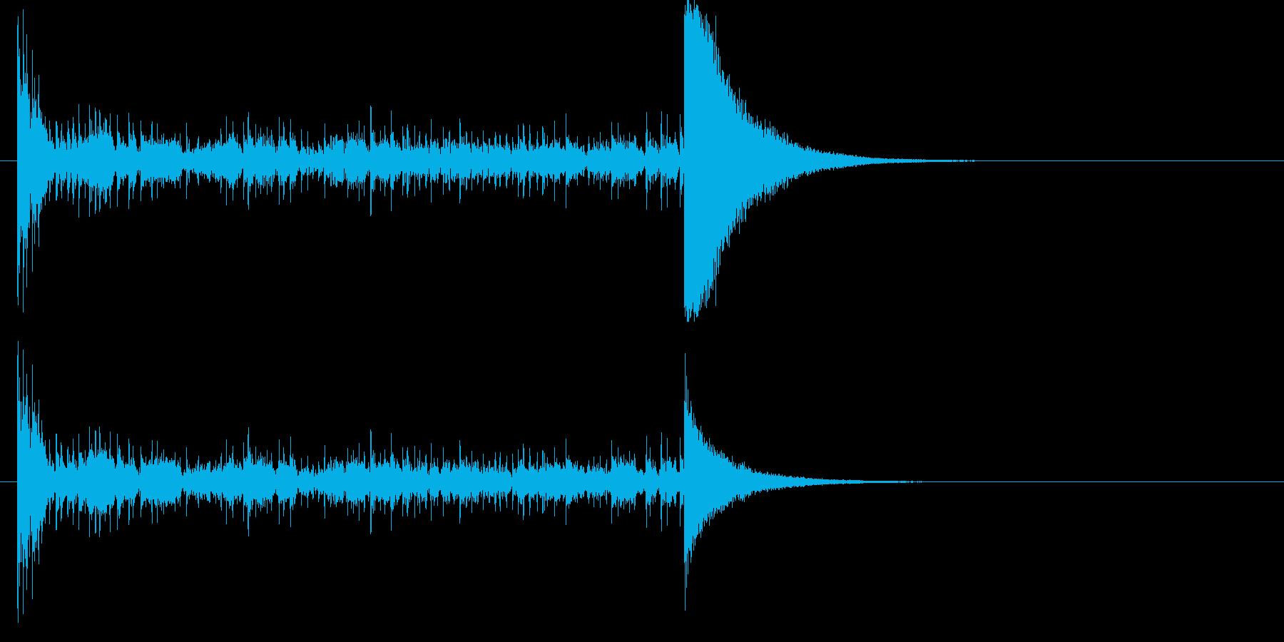 結果発表ドコドコ・ロール10秒シンバル有の再生済みの波形