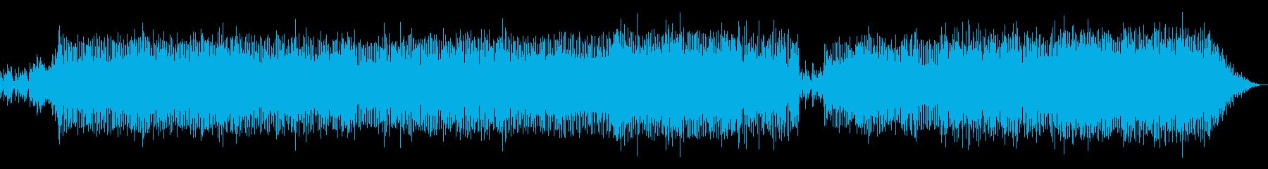 西洋民族音楽風のポップスの再生済みの波形