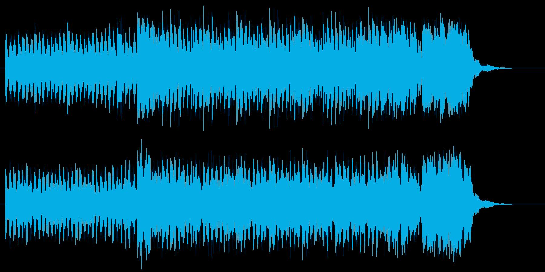 ダークでしなやかなシンセジングルの再生済みの波形