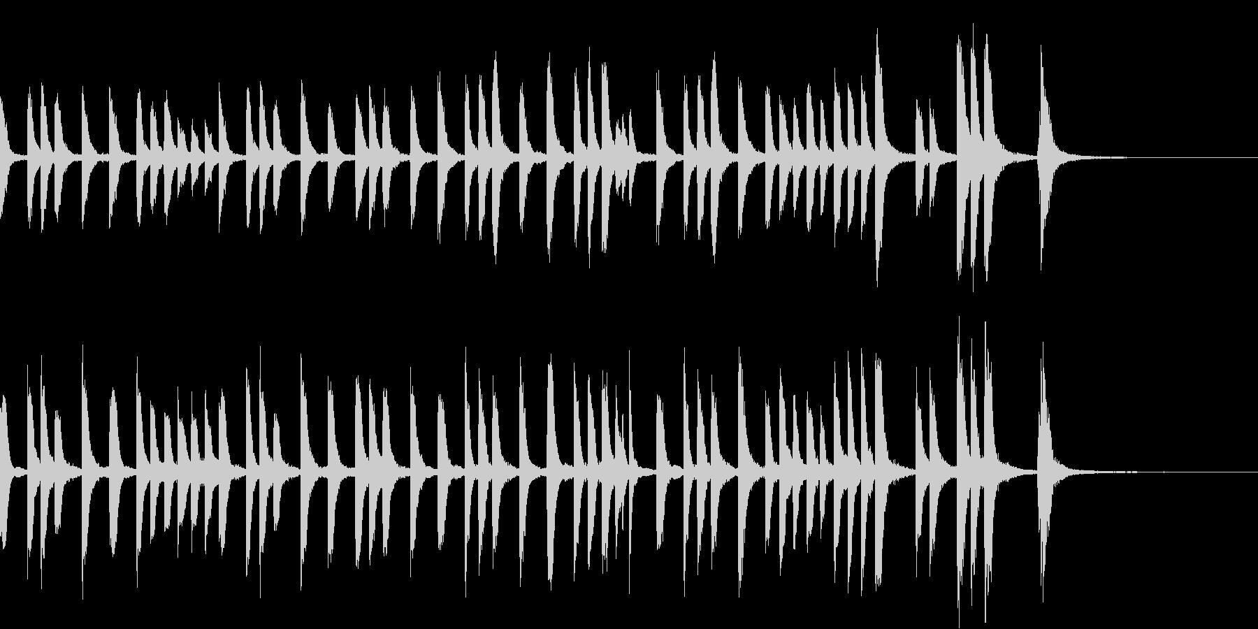コミカルでカワイイほのぼのしたピアノ曲の未再生の波形