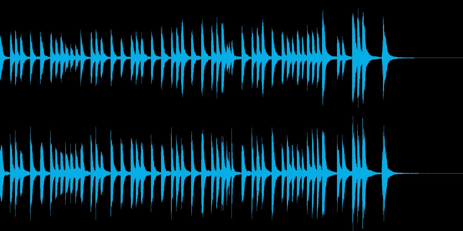 コミカルでカワイイほのぼのしたピアノ曲の再生済みの波形