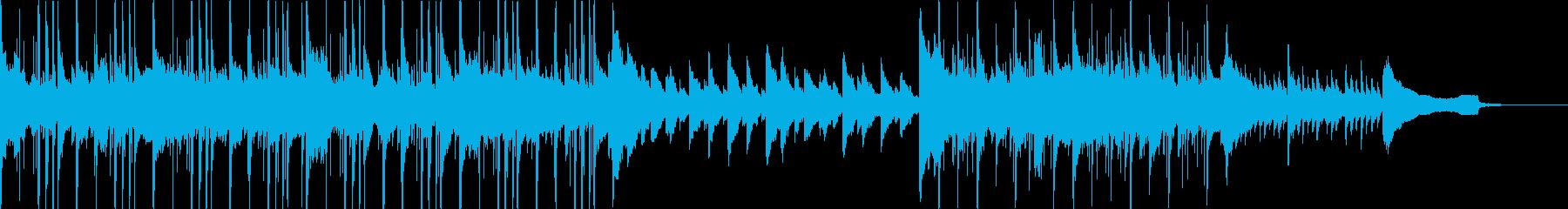 水々しいピアノの美しいエレクトロの再生済みの波形