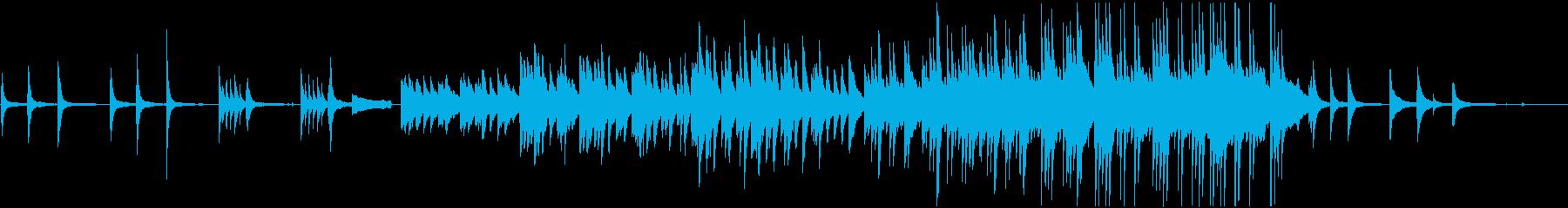 「霧雨の降る夜」ピアノソロの再生済みの波形
