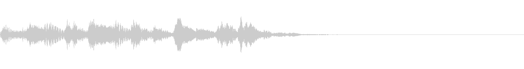 ステータス、レベルアップ音 ピチカートの未再生の波形