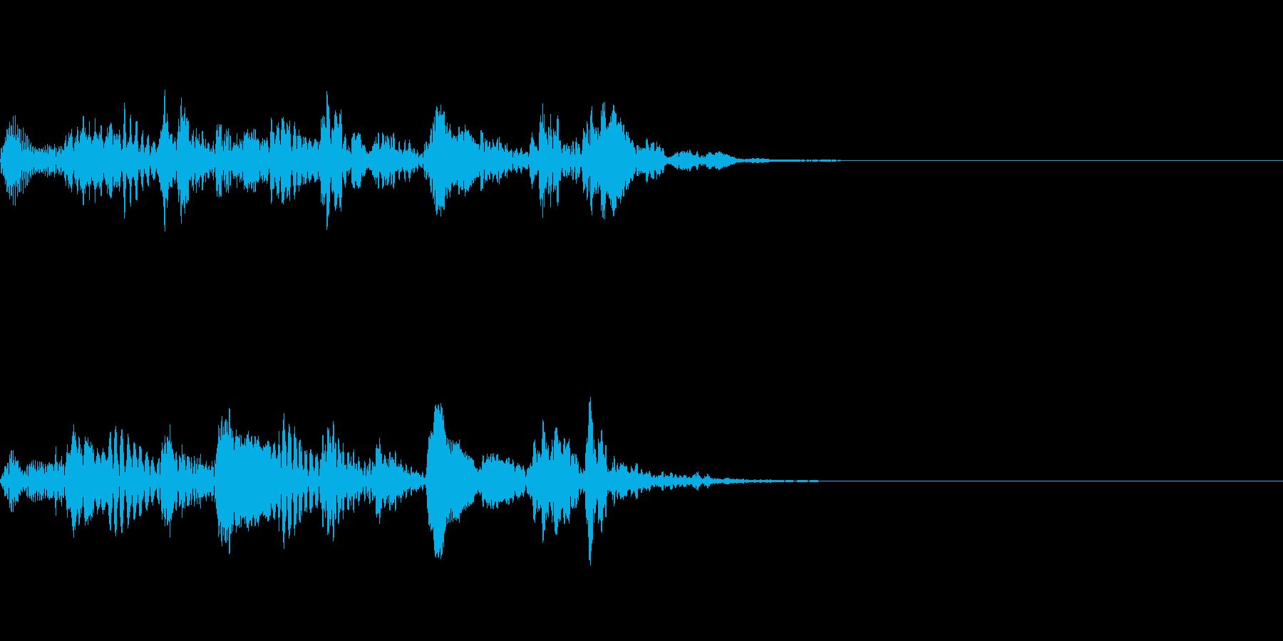 ステータス、レベルアップ音 ピチカートの再生済みの波形