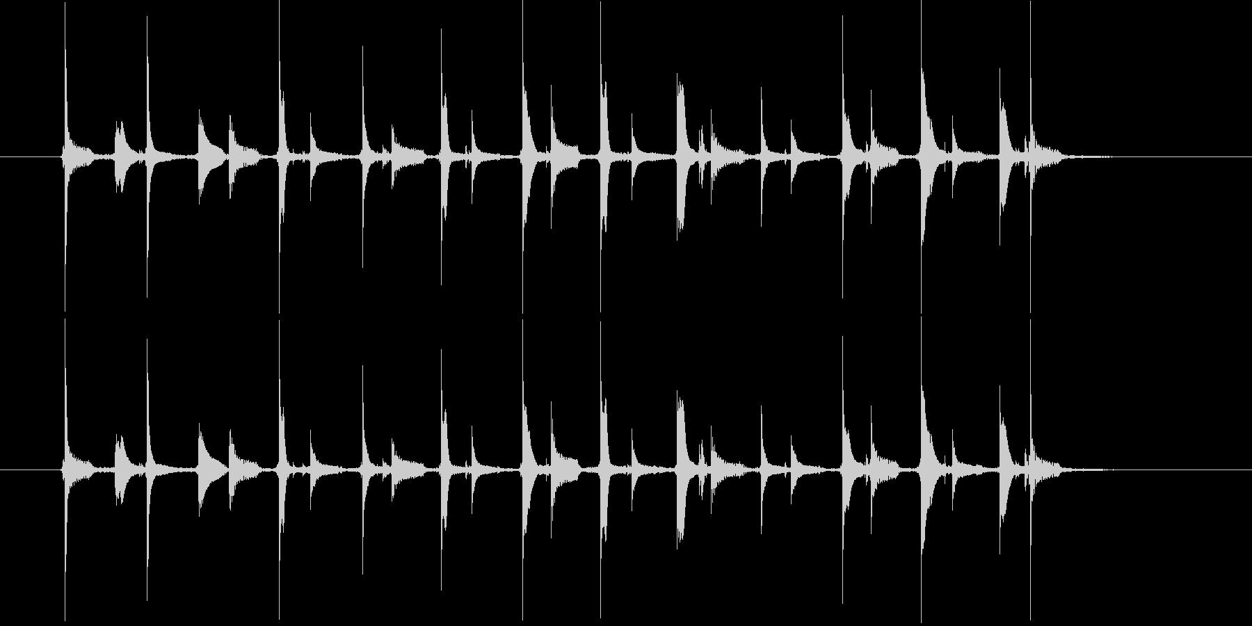 ご機嫌な時のスキップ(足踏みの音、歩く)の未再生の波形