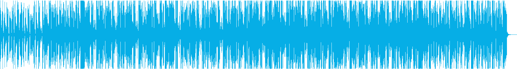 シンセを用いた淡白なテクノ楽曲の再生済みの波形