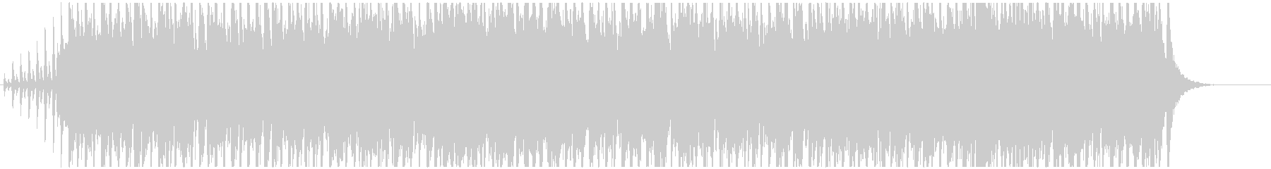 Rhythmic and bright BGM's unreproduced waveform