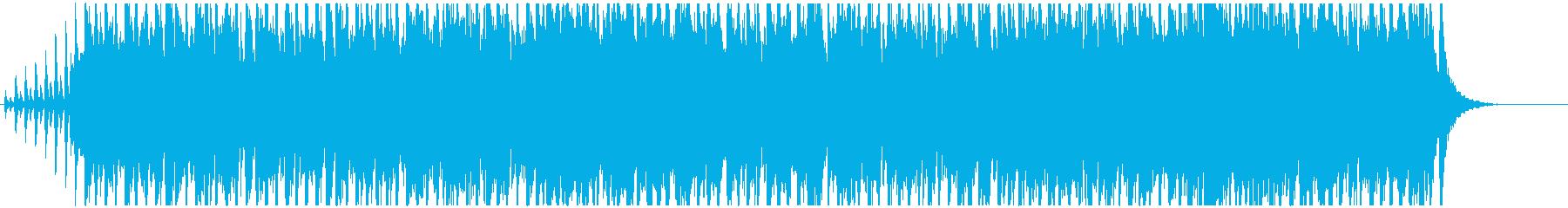 Rhythmic and bright BGM's reproduced waveform
