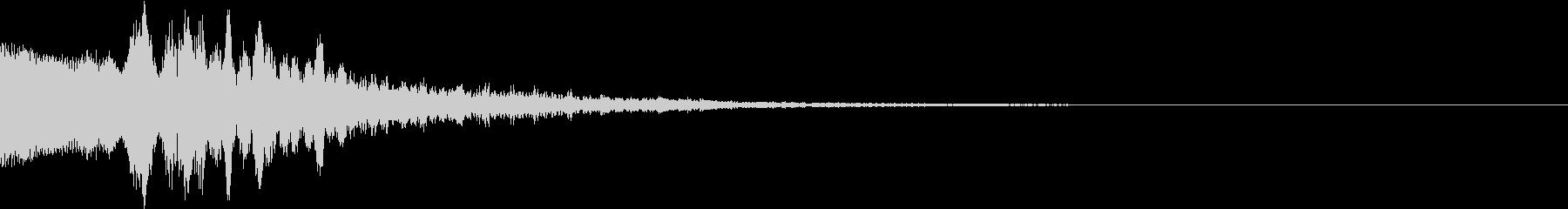 機械を起動したときの起動音の未再生の波形