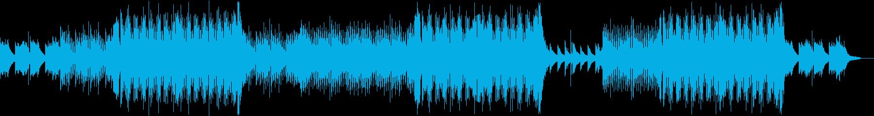 暖かくて夏に合う感動的なBGMの再生済みの波形