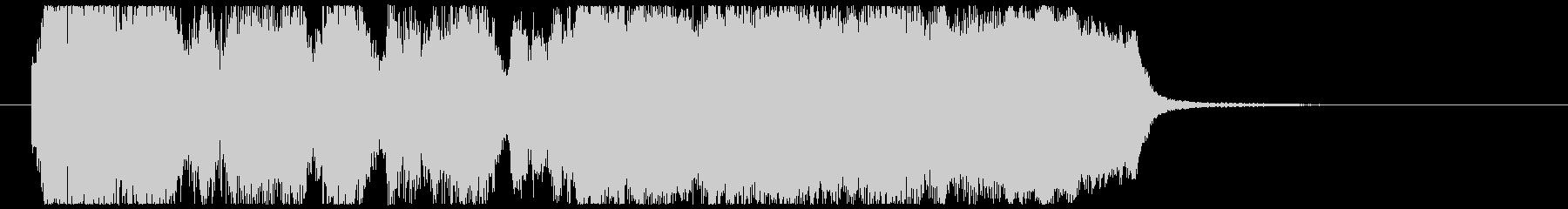 金管5重奏と打楽器のファンファーレの未再生の波形