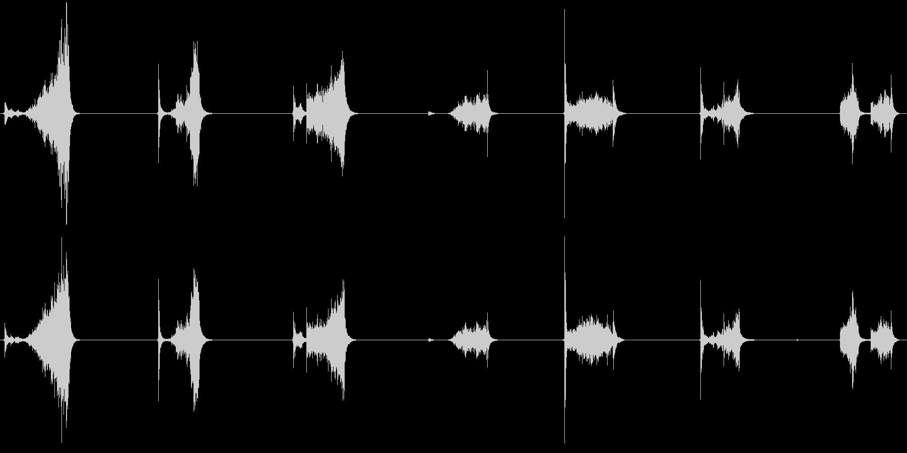 ASMR ナイフを擦る音の未再生の波形