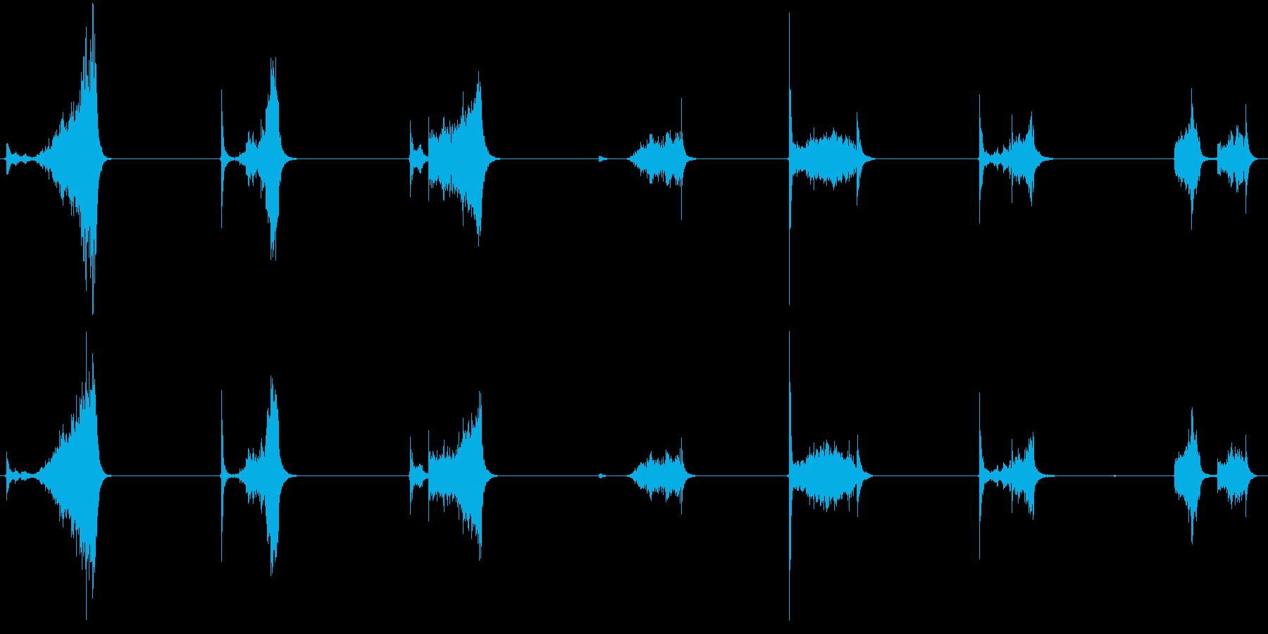 ASMR ナイフを擦る音の再生済みの波形