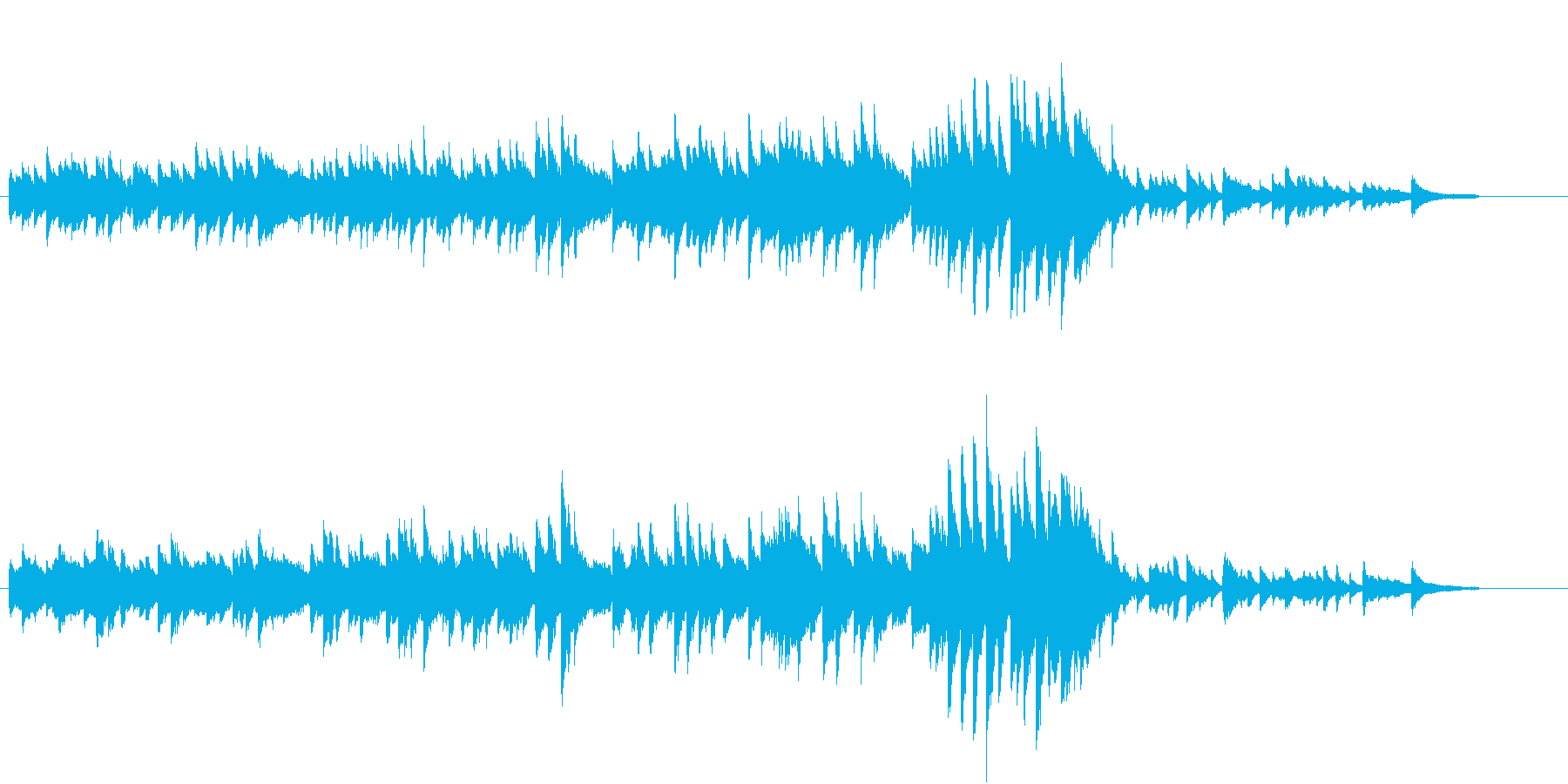 切なく美しいピアノソロ曲♪の再生済みの波形