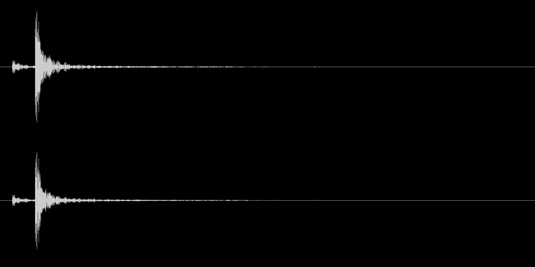 和太鼓の桶胴(おけどう)の単発音+Fxの未再生の波形