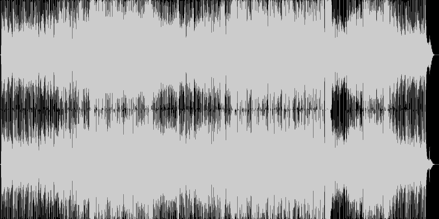 プロフィールムービー用 女性ボーカル曲の未再生の波形