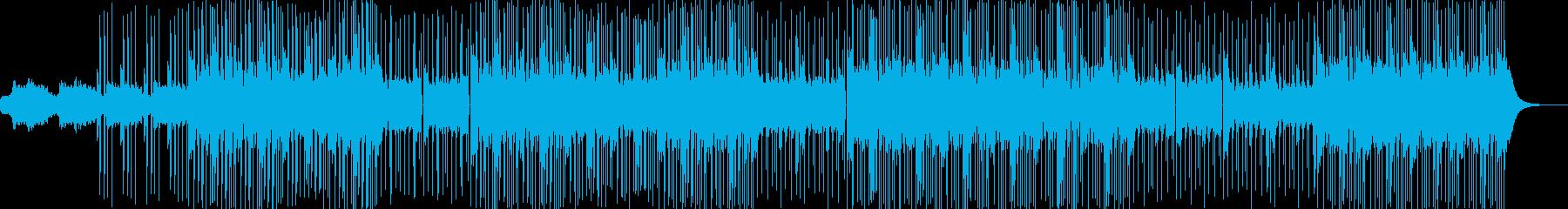 静かなスローテンポのポップスの再生済みの波形