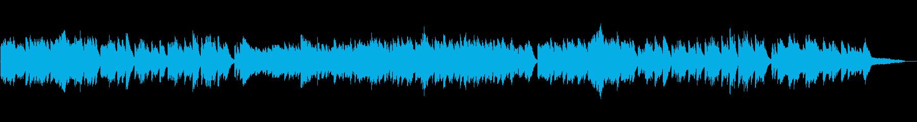 癒し系生演奏ピアノソロの再生済みの波形