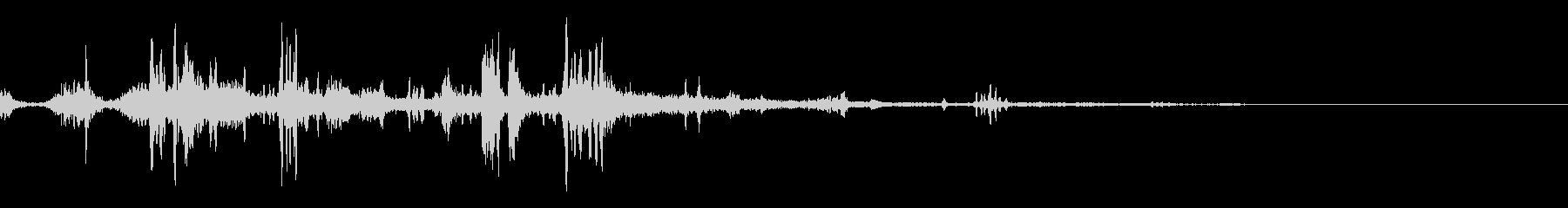 水中音01の未再生の波形