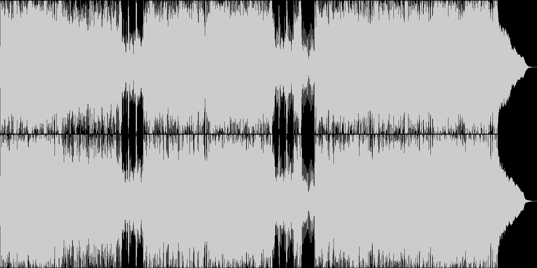 サクラをイメージした和ロックチューンの未再生の波形