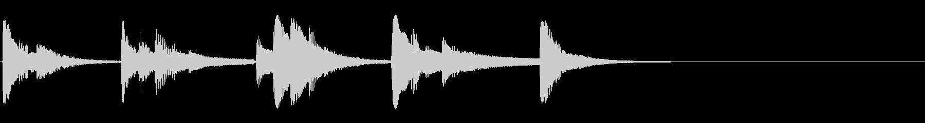 ジングル用 オシャレの未再生の波形