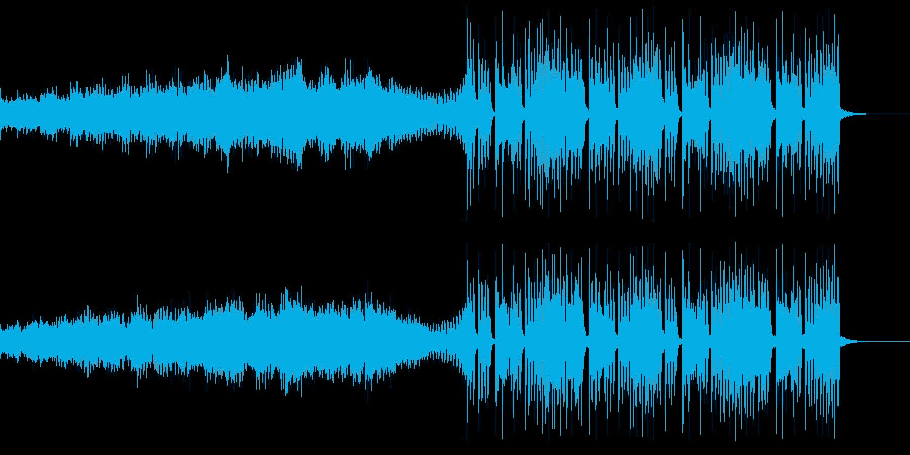 明るく前向きな変則ビートの再生済みの波形