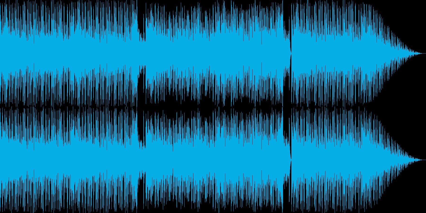 和のテイストを用いたエレクトロBGMの再生済みの波形