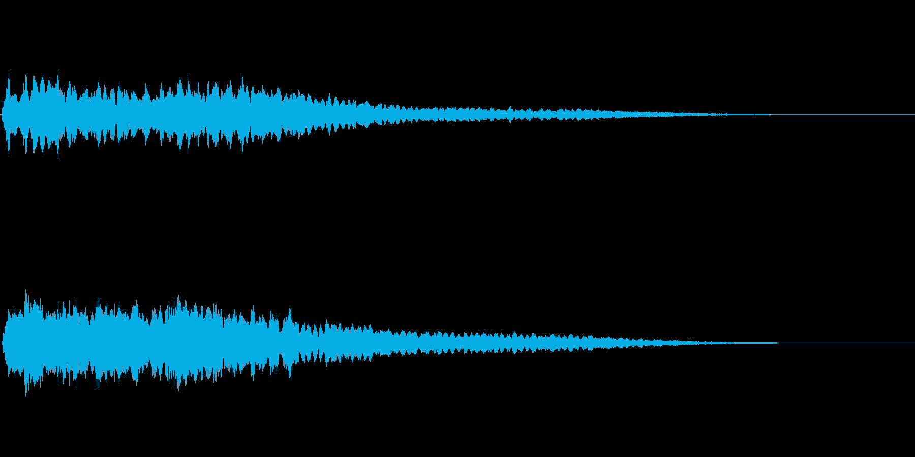 上昇系キラキラサラサラ音の再生済みの波形