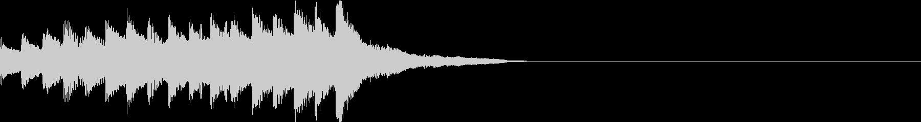 シンプルで幻想的なピアノの旋律ジングルの未再生の波形