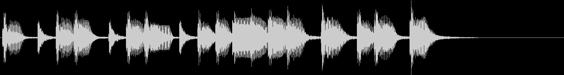 2小節ジングル06 オールディーズ2の未再生の波形