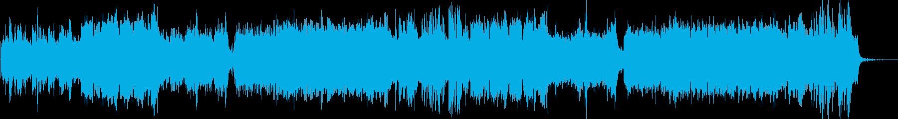 幻想的で異国感のあるアンビエント調の曲の再生済みの波形