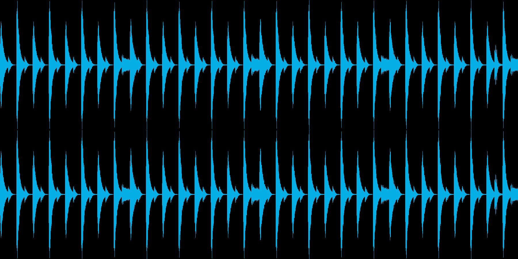 808音源を使用したシンプルなリズム02の再生済みの波形