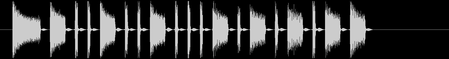 機械的でノイズの混じったジングルの未再生の波形