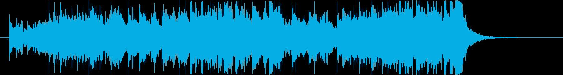 コーナータイトル_バトルシーンの再生済みの波形