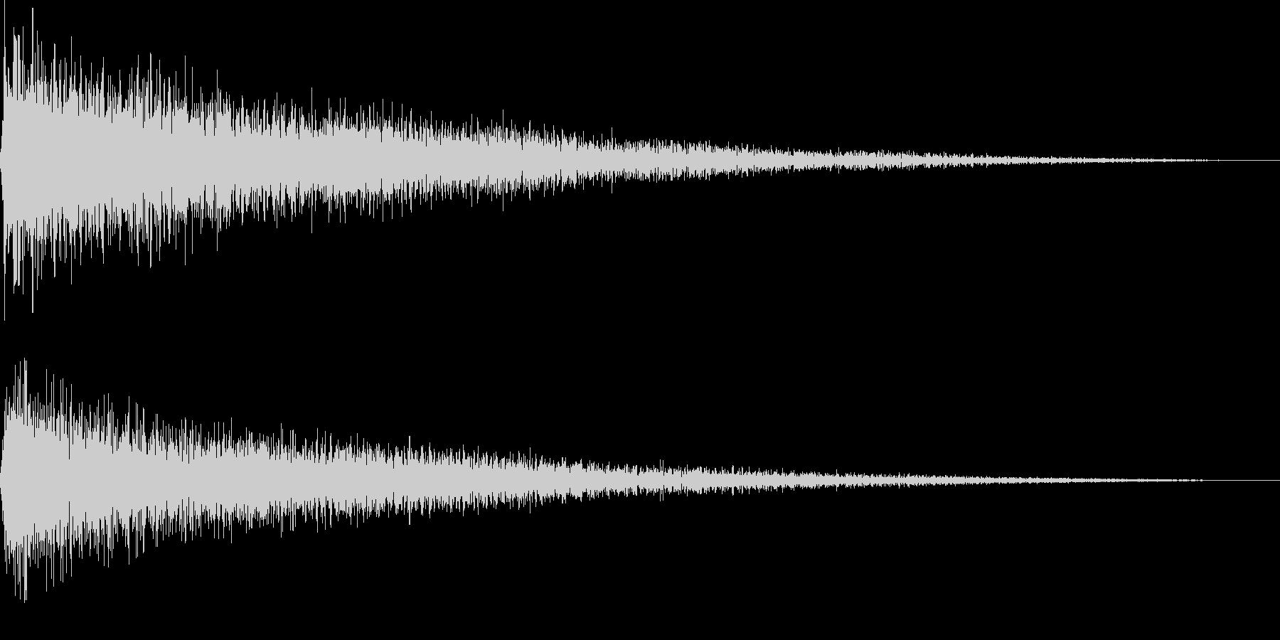 【ガーン】ピアノの低い音 2の未再生の波形