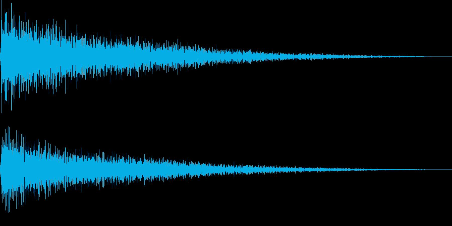 【ガーン】ピアノの低い音 2の再生済みの波形