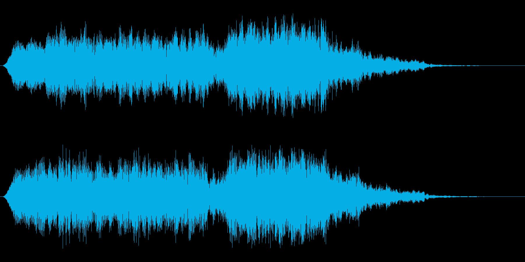 ピュユウユウ〜↑(強めのUFO音)の再生済みの波形