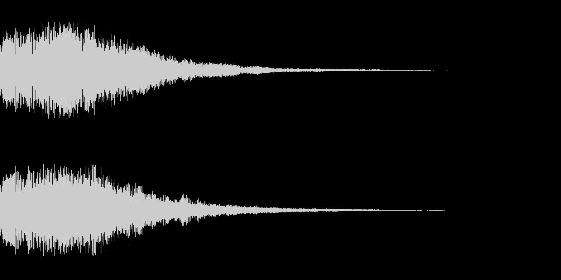 シーン切り替え シンセサイザー3の未再生の波形